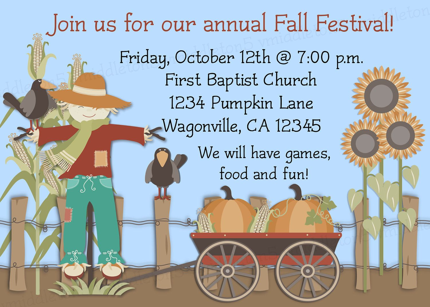 fall festival ideas | Fall Festival Invitation Wording Ideas ...