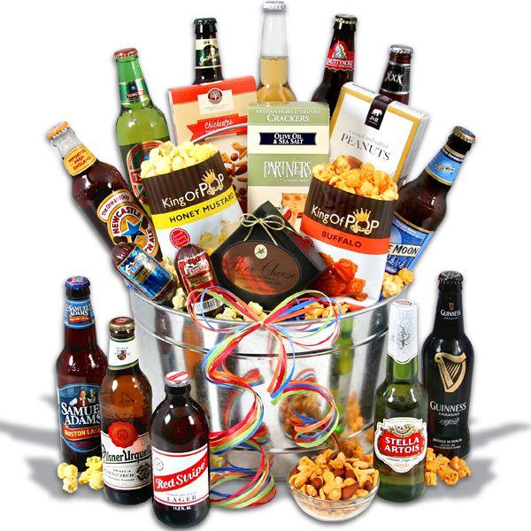 Around The World Beer Bucket 12 Beers Alcohol Gift Baskets Bucket Gifts Beer Bucket