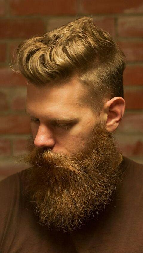blonde full beard beards bearded man men undercut mustache style golden boy blond handsome thick