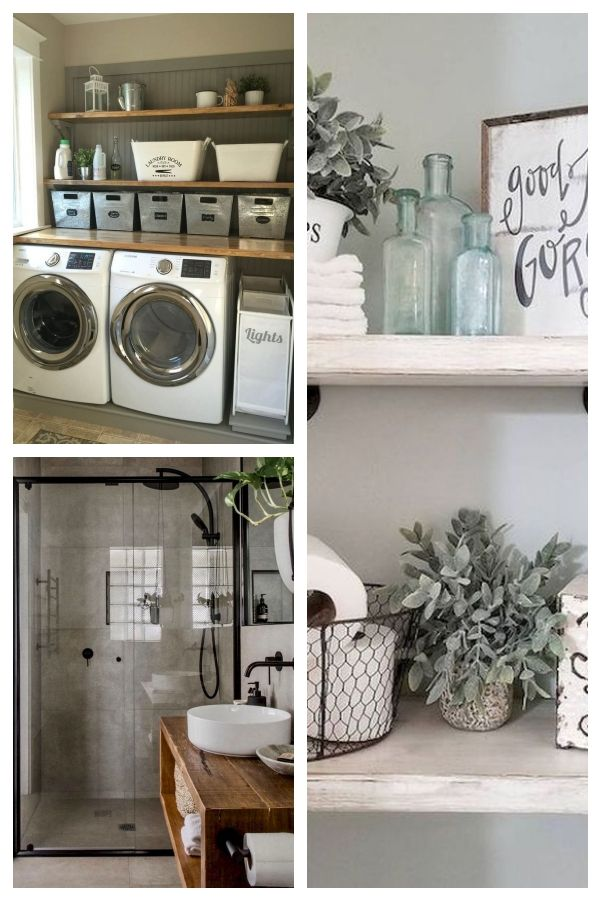 34 Farmhouse Laundry Room Ideas for the charming laundry