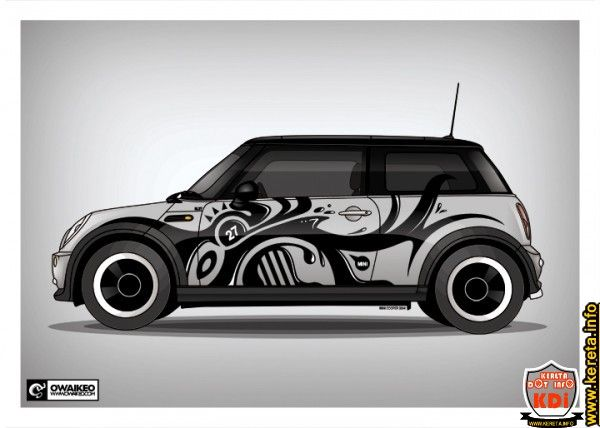 Modified car sticker decal lining stripe wrap design vector floral racing car graphic10 jpg