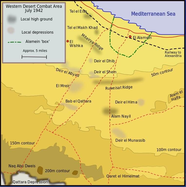First Battle Of El Alamein At A Glance Erwin Rommel British