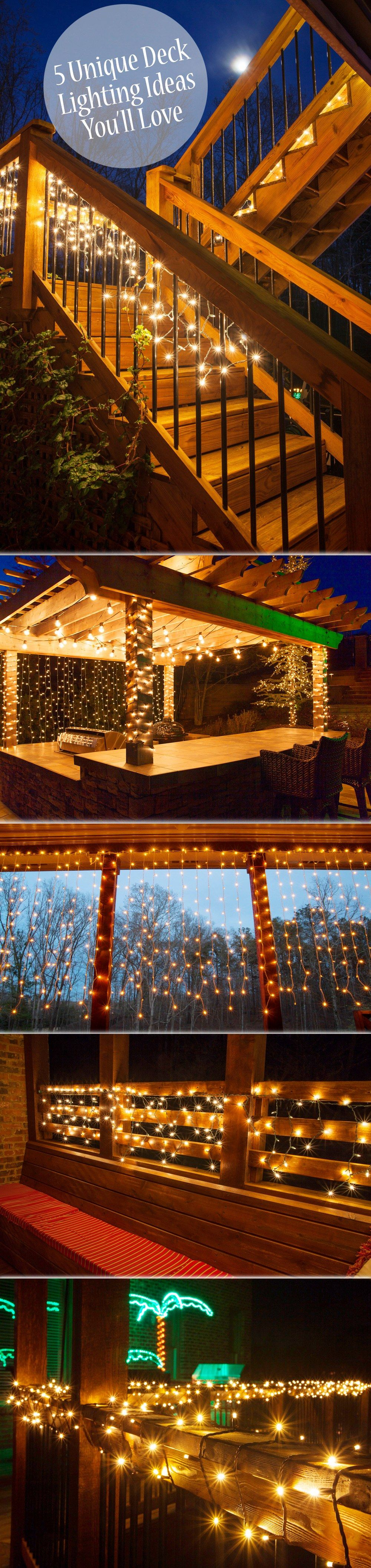 patio deck lighting ideas. what an easy and inexpensive way to add magic your deck or patio outside fun pinterest decking patios u2026 lighting ideas g