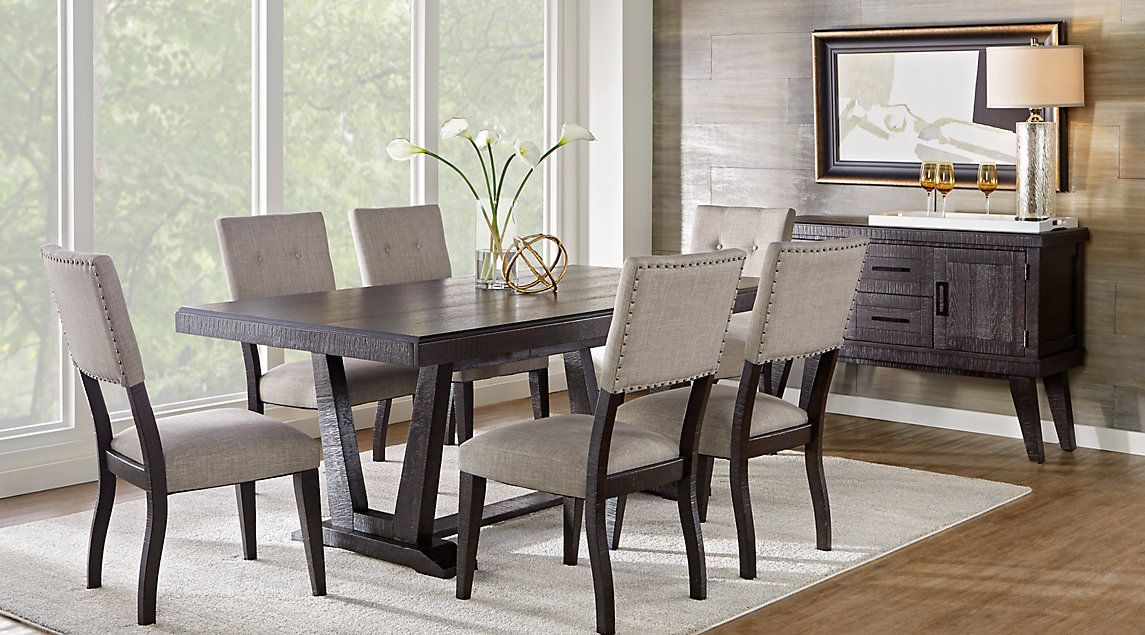 Amazing Black Dining Room Suites Part - 6: Picture Of Hill Creek Black 5 Pc Rectangle Dining Room From Dining Room  Sets Furniture
