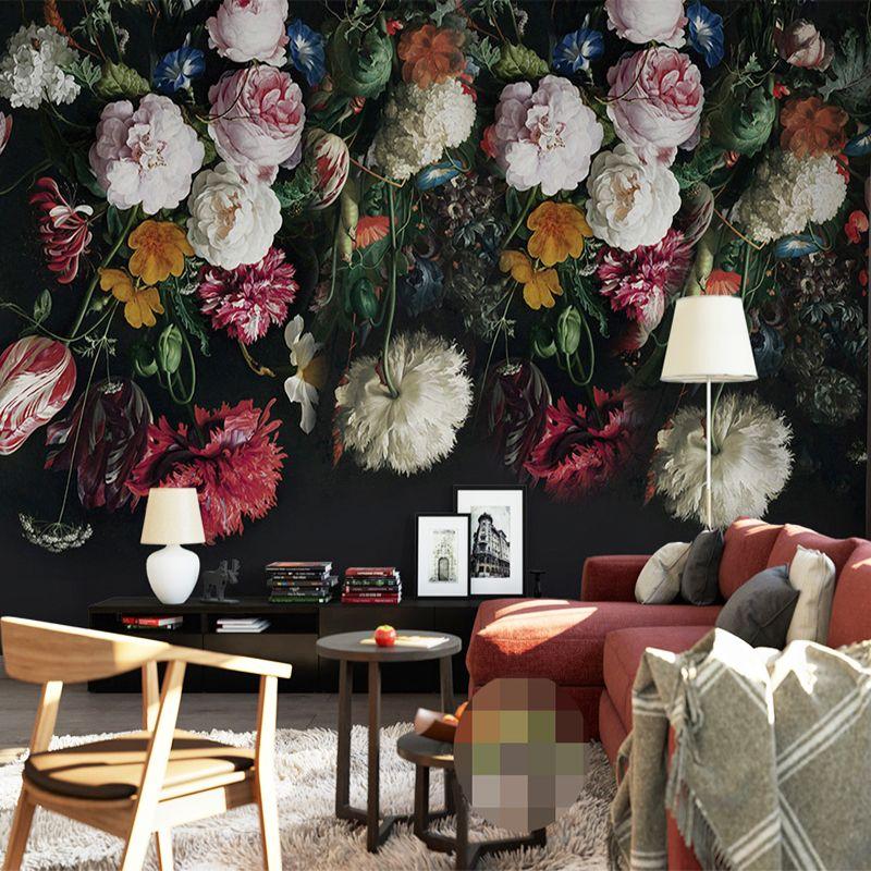 Custom Elke Maat 3D Muurschilderingen Behang Retro Handgeschilderde Bloemen  Muur Schilderen Woonkamer Slaapkamer Thuis Muurschildering Behang