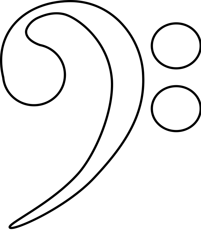 Bass Clef Art Music Coloring Music Symbols Coloring Pages