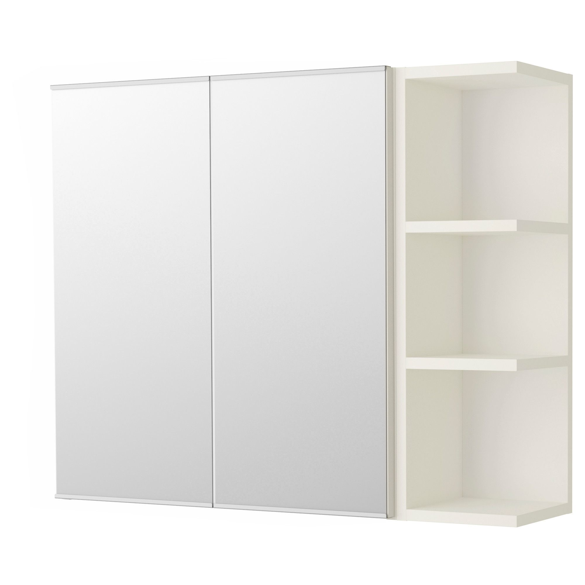 LILLÅNGEN Mirror 2 doors/1 end unit white 31 1