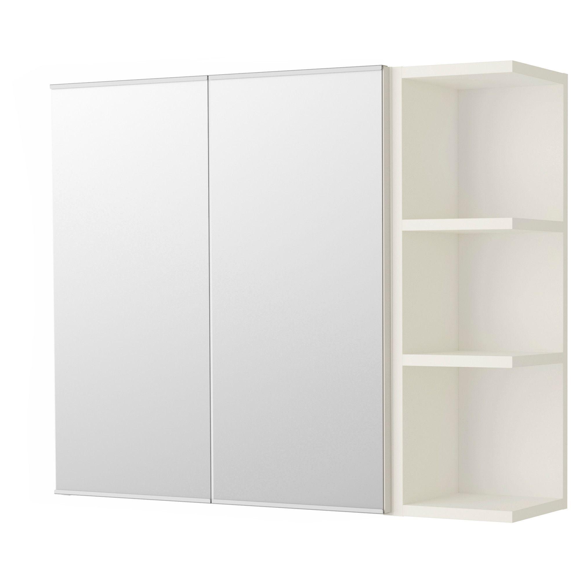 Ikea Mobili Bagno Pensili lillÅngen mobile a specchio/2 ante/1 scaffale - bianco