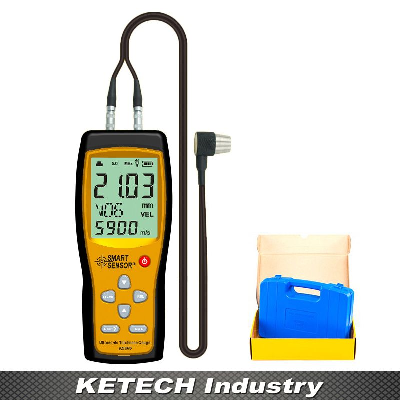 As860 Ultrasonic Steel Aluminium Plate Thickness Gauges With