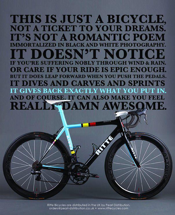 Citaten Over Fietsen : Kijk deze tekst gaat ergens over geen opgeblazen gelul bikes