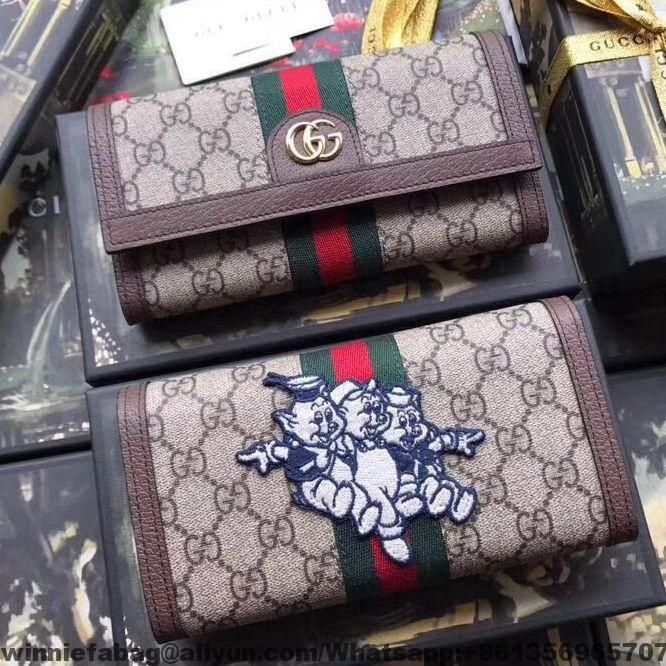 47357bde078e Gucci Ophidia GG Continental Wallet with Pigs Embroidery 523153 2019 ...