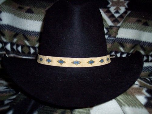 Native American Style New Mexico Spanish Charm Loom Hatband Native American Fashion Hat Band American Style