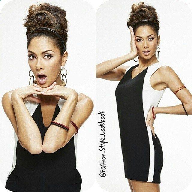 #Nicolescherzinger #Goes #Retro #For #A #PhotoShoot#xfactor #xfactoruk #pussycat #pussycatdolls #doll #dolls #beauty #thin #fashion #style #bun #vintage #eyeliner #eyebrows #hair #hairstyle #tanned #beautiful #lewishamilton #exboyfriend... - Celebrity Fashion