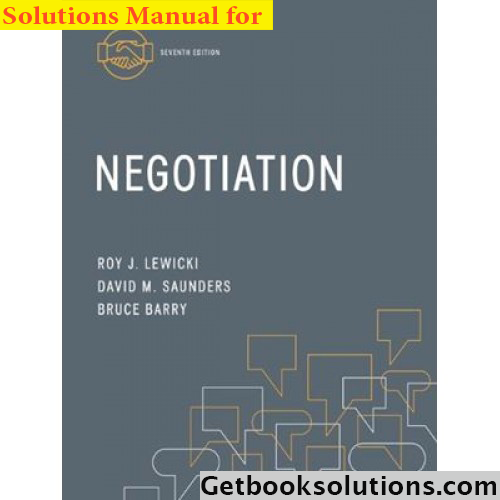 Download solution manual for negotiation 7th edition by roy lewicki download solution manual for negotiation 7th edition by roy lewicki and david saunders and bruce barry pdf negotiation 7th edition solutions pdf docx fandeluxe Choice Image