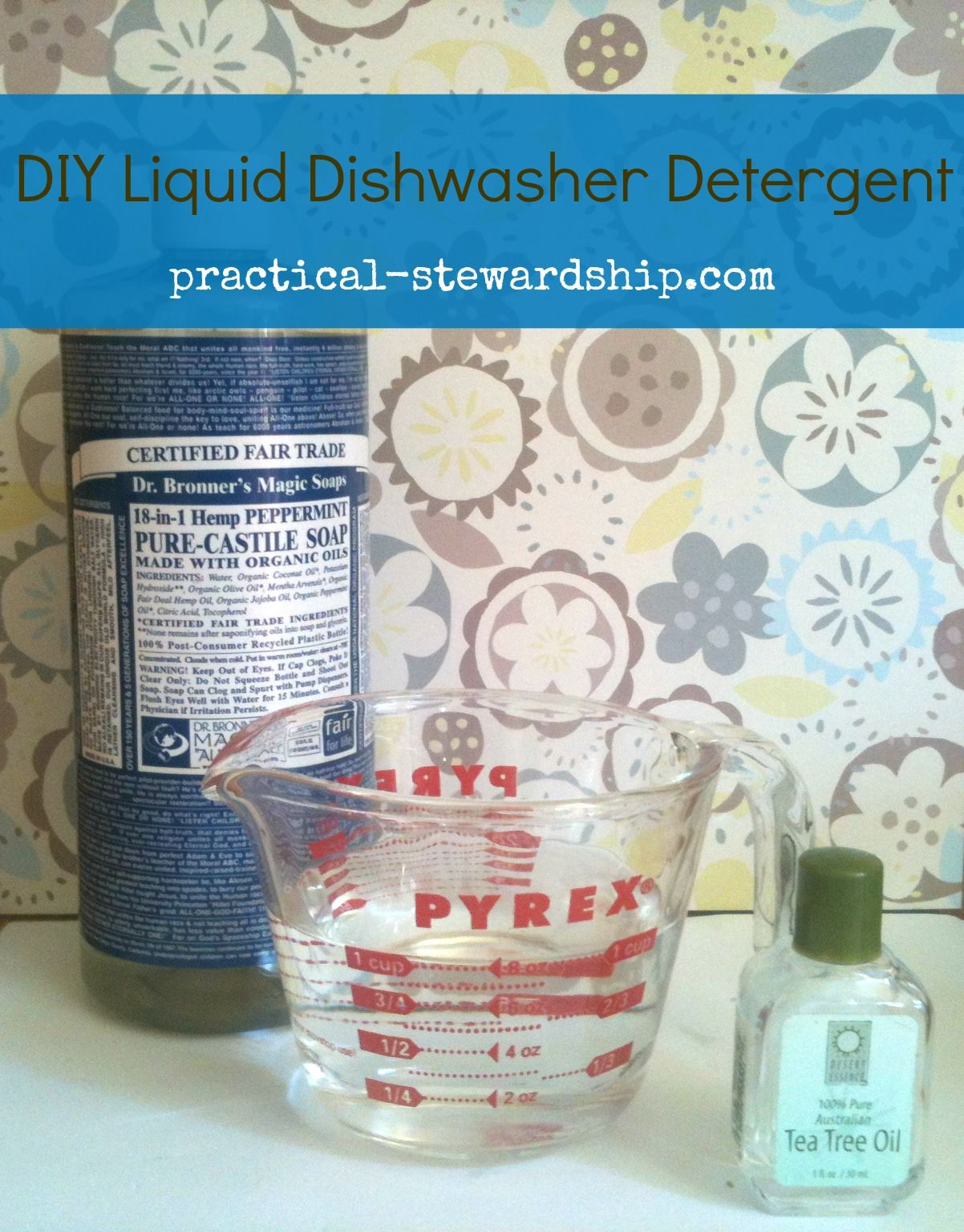 Revised Improved Homemade Three Ingredient Liquid Dishwasher Detergent Practical Stewardship Recipe Homemade Liquid Dishwasher Detergent Dishwasher Detergent Diy Dishwasher Detergent