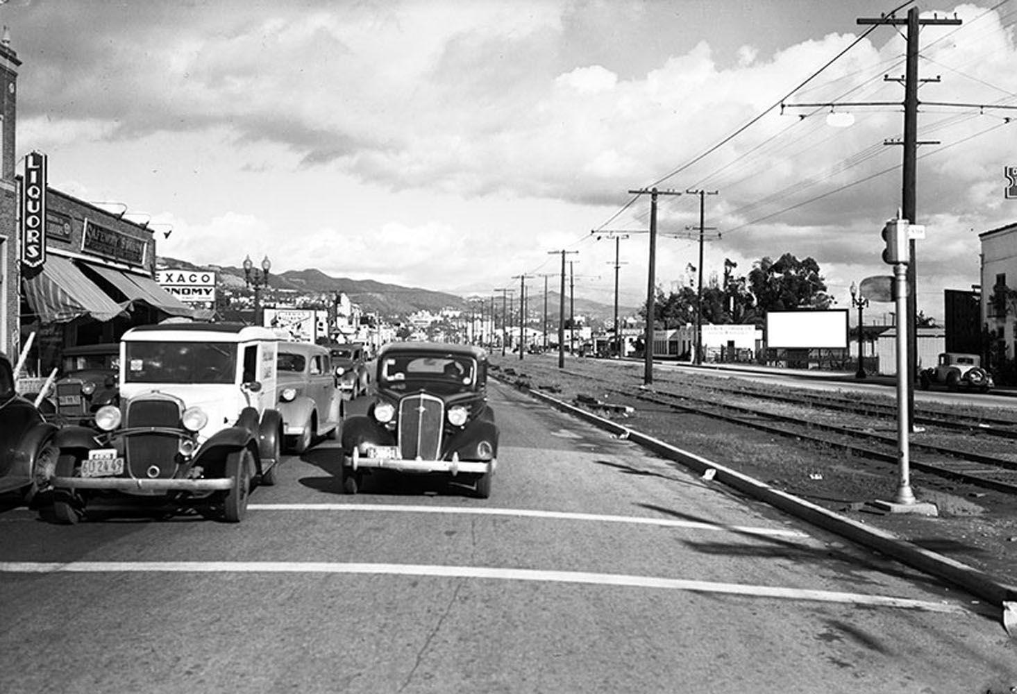 West Hollywood Strip Of Santa Monica Blvd