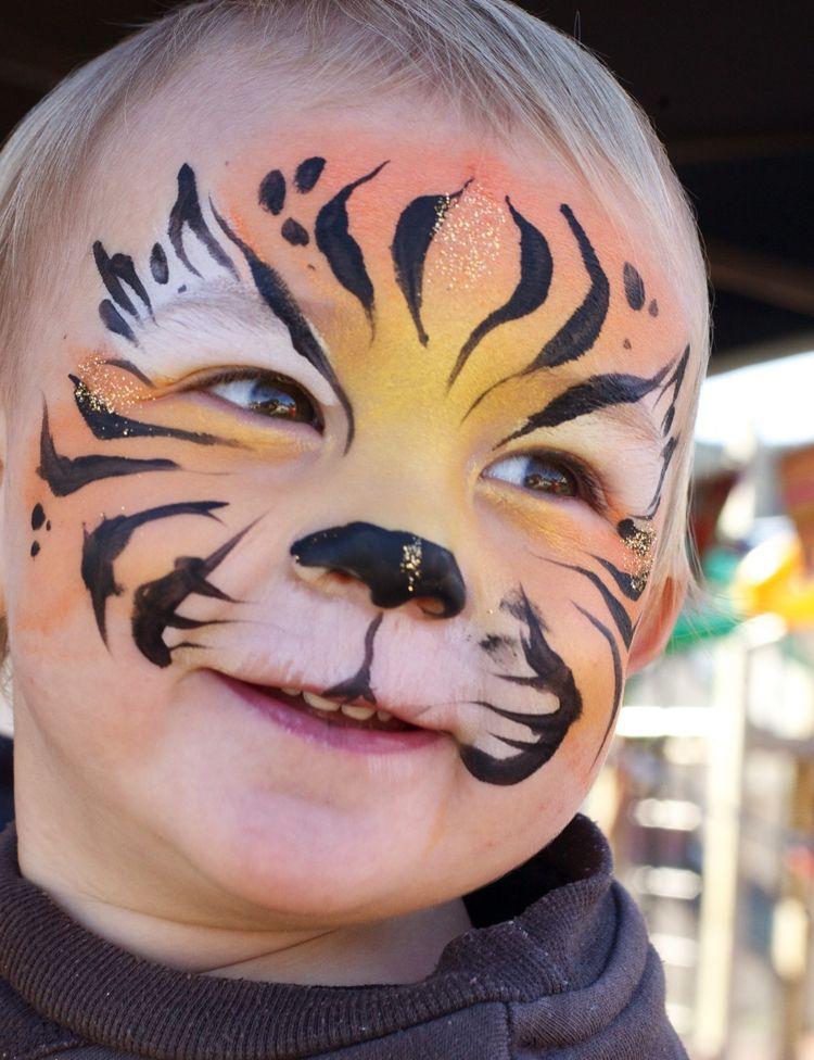 baby als tiger schminken fasching karneval fasching. Black Bedroom Furniture Sets. Home Design Ideas