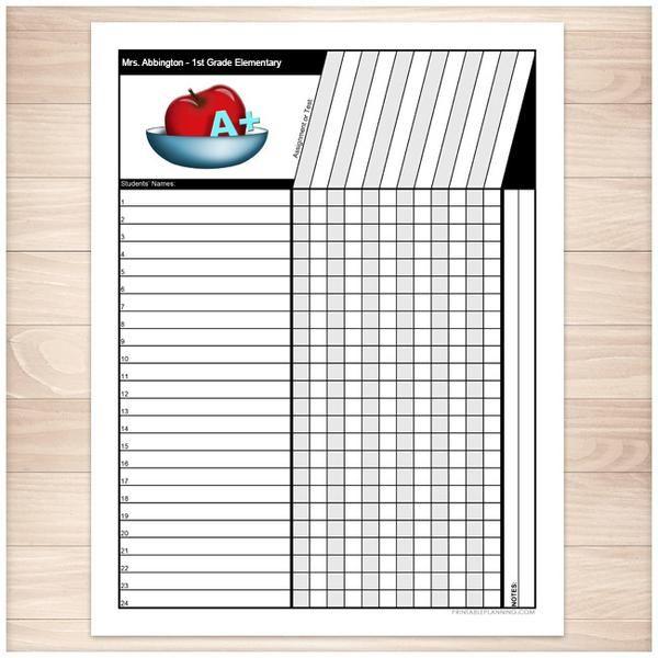 teacher grade sheet