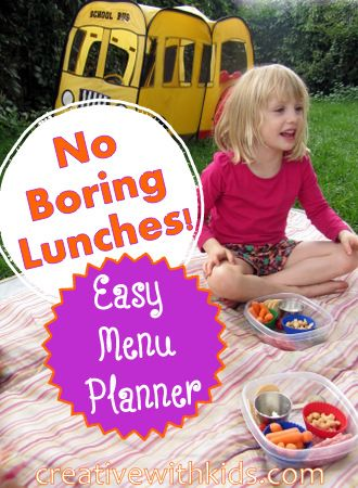 Easy Lunch Meal Planning - printable template