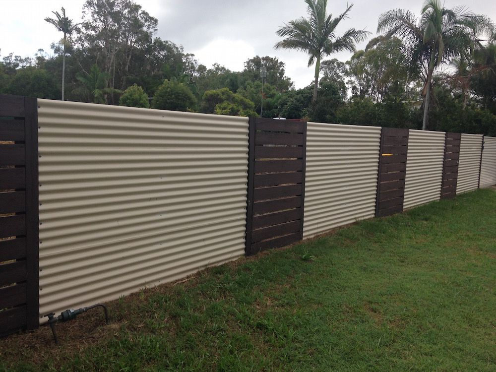 Corrugated Metal Fence 01 Yardcore Pinterest