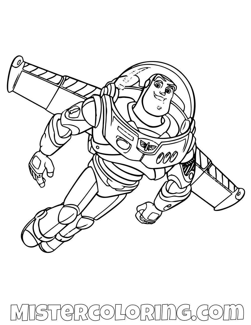 Buzz Lightyear Flying Toy Story Coloring Page Toy Story Coloring