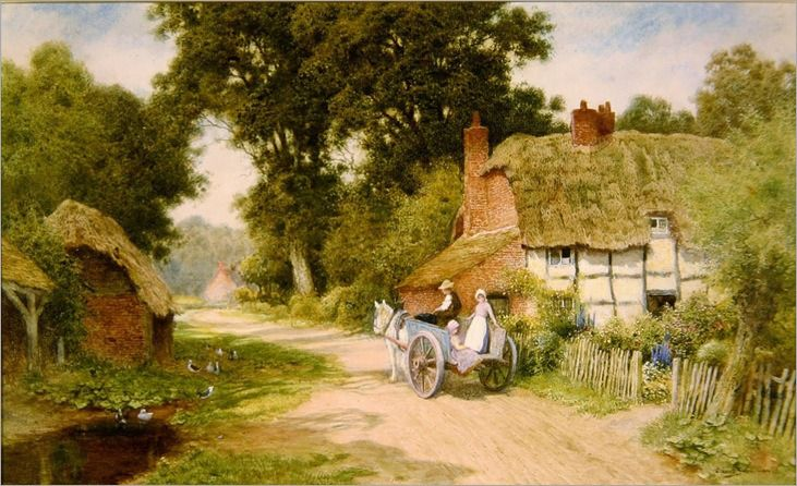 A Warwickshire Lane - Arthur Claude Strachan (scottish)