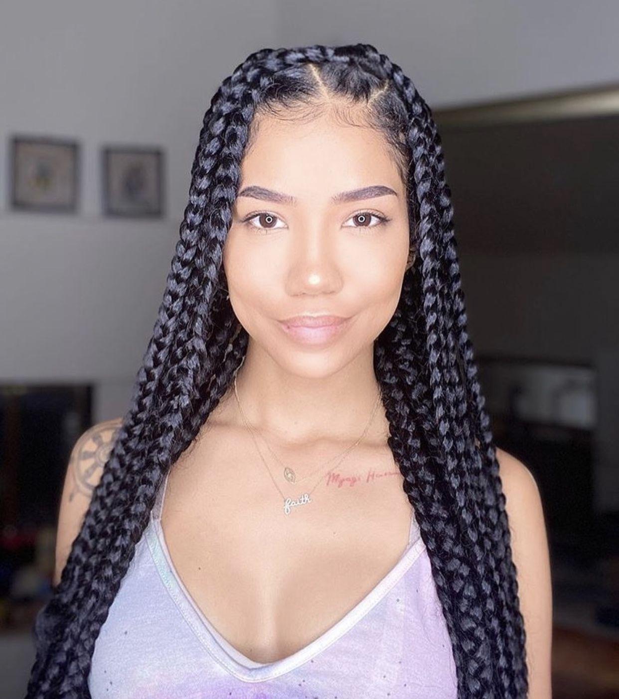 In Instagram Jheneaiko Model De Coiffure Africaine Jhene Aiko Box Braids Hairstyles