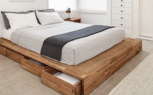 Storage Bed Laxseries Platform Bed Designs Wooden Platform