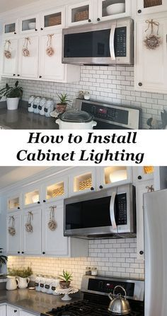 How To Install Kitchen Cabinet Lighting Diy Installing