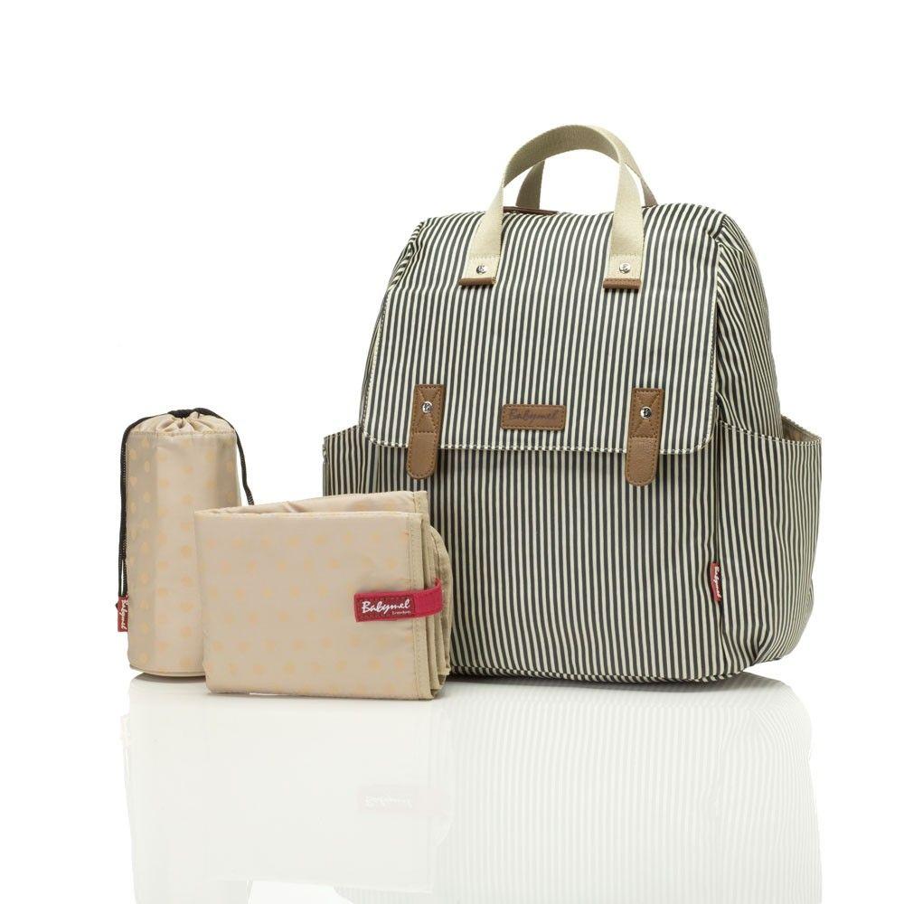 Babymel Robyn Navy Stripe Baby Changing Backpack Jojo Maman Bebe