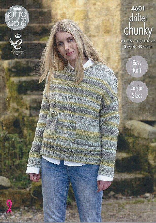25cb74947 Ladies Sweaters in King Cole Drifter Chunky (4601)