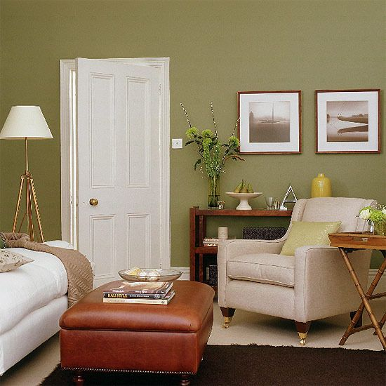 Living Room Green And Brown Unmatched Furniture Varied Wood Finishes Www Thesellablheome Co Olive Living Rooms Living Room Colors Brown Living Room