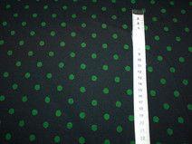 Dots green, Jersey in schwarz mit grünen Punkten