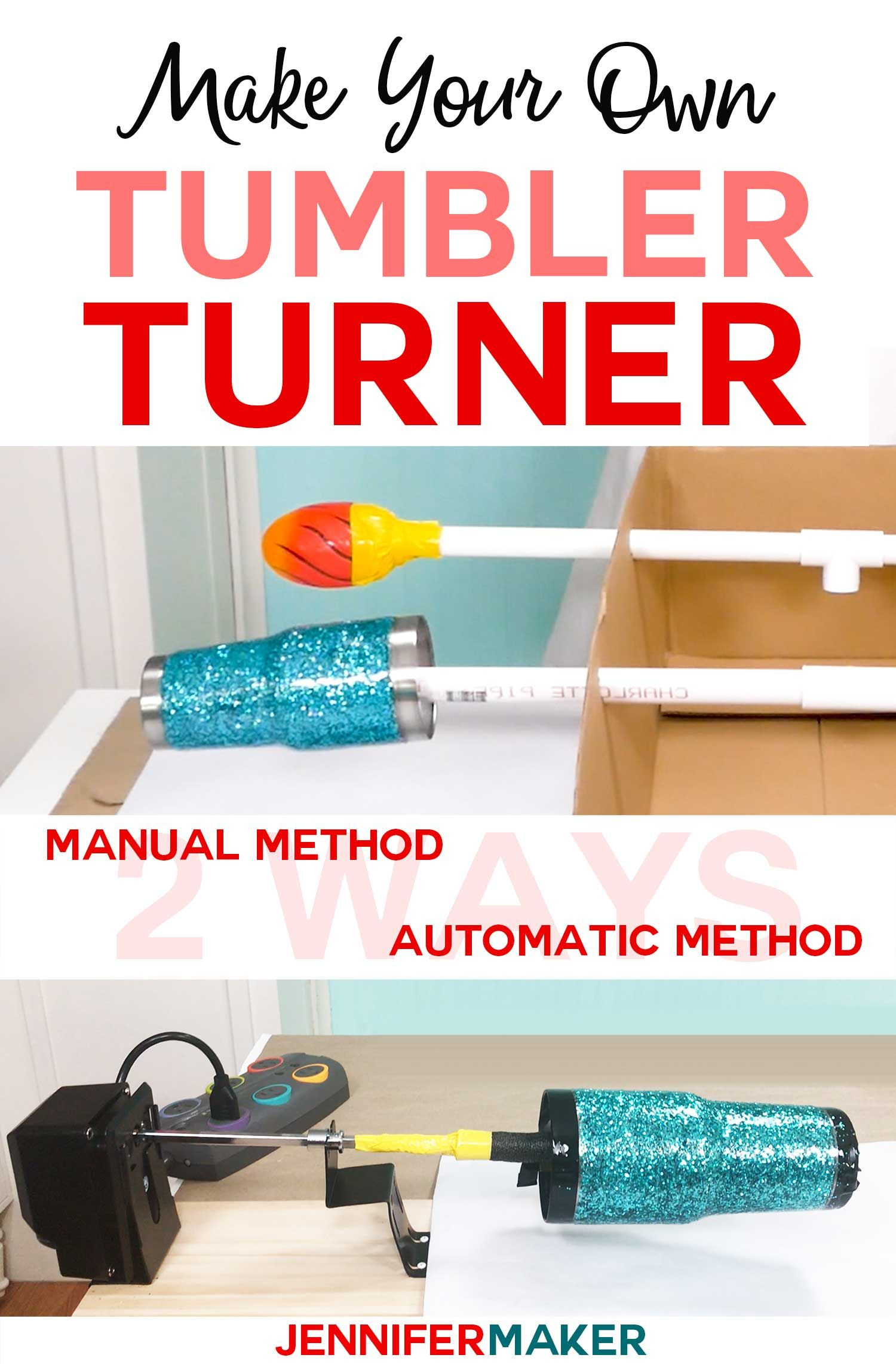 f4865df58ab DIY Tumbler Turner (Cup Turner) Made Two Ways - Cardboard Method and  Rotisserie Turner Method -- Both Inexpensive! Complete instructions and  tutorial ...