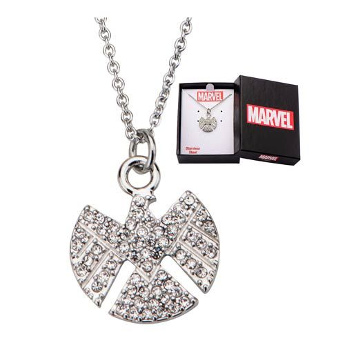 Agents of SHIELD Logo Bling Gems Necklace