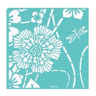 Трафарет пластиковый многоразовый, 31х21 см, Геральдическая лилия 1
