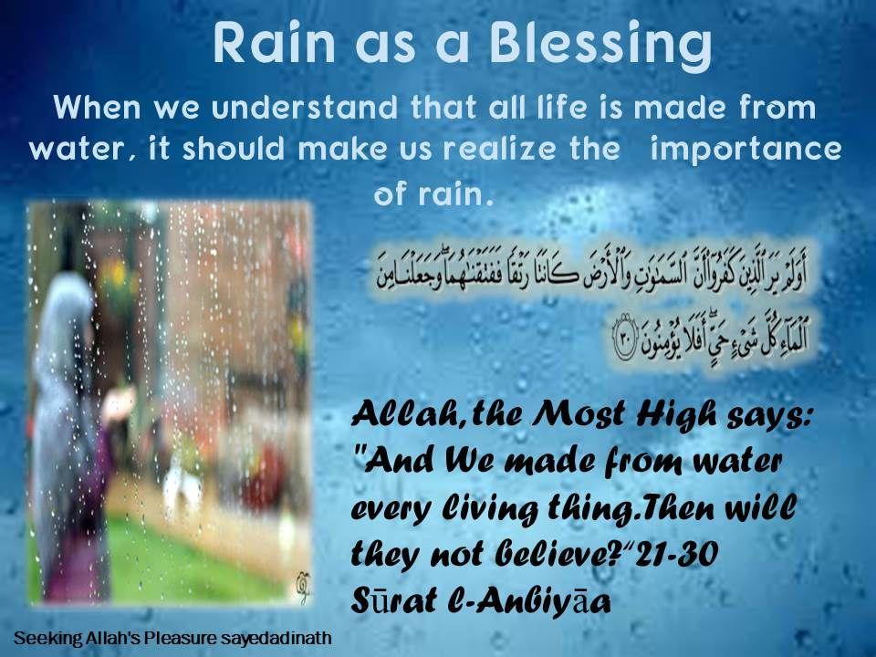 Rain Blessing Rain Duas Blessins Drought Quran Quotes Quran
