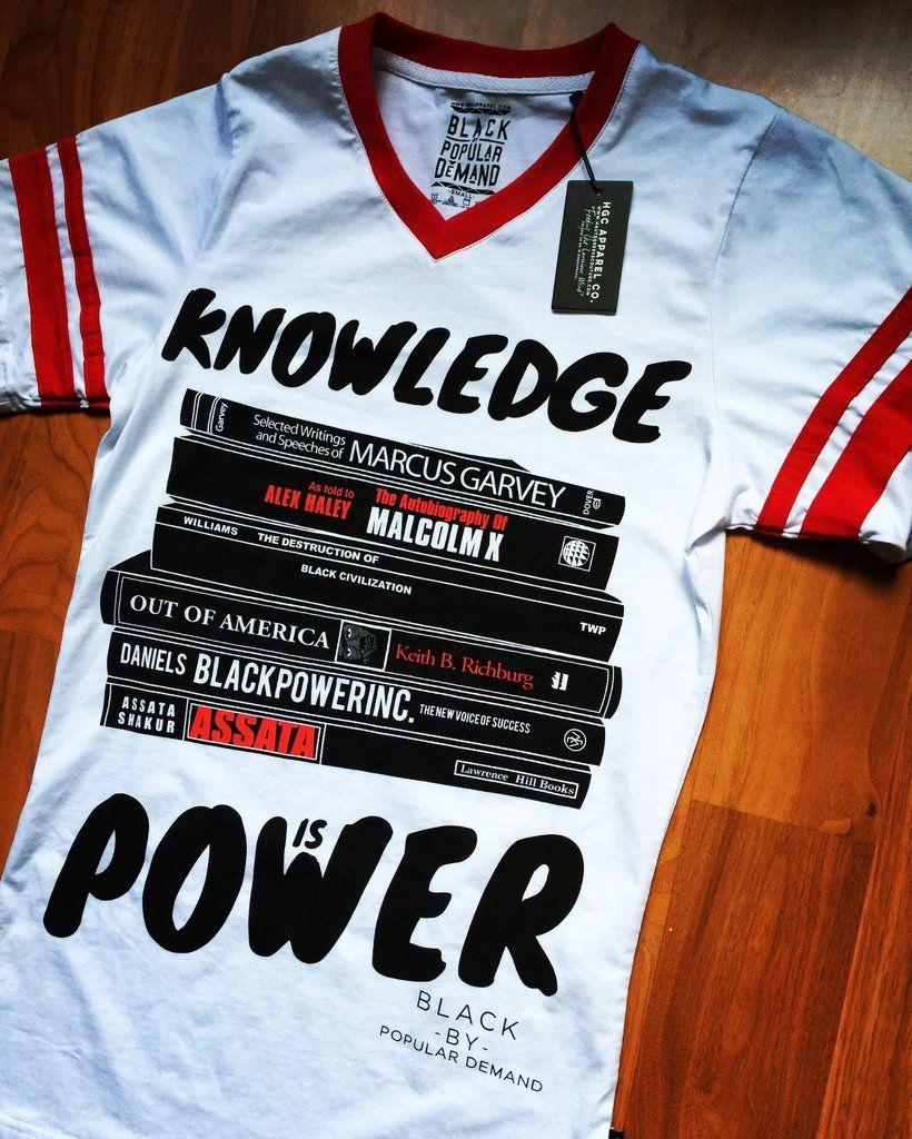 1287d059f840 KNOWLEDGE IS POWER unisex jersey shirt   My Posh Closet   Jersey ...
