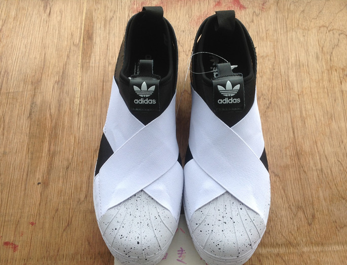 ADIDAS SUPERSTAR SLIP ON M BLACK WHITE S81339 $169
