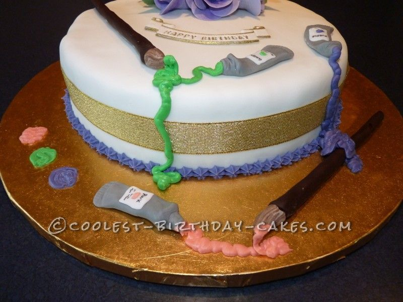artist palette birthday cake Google Search cakes Pinterest