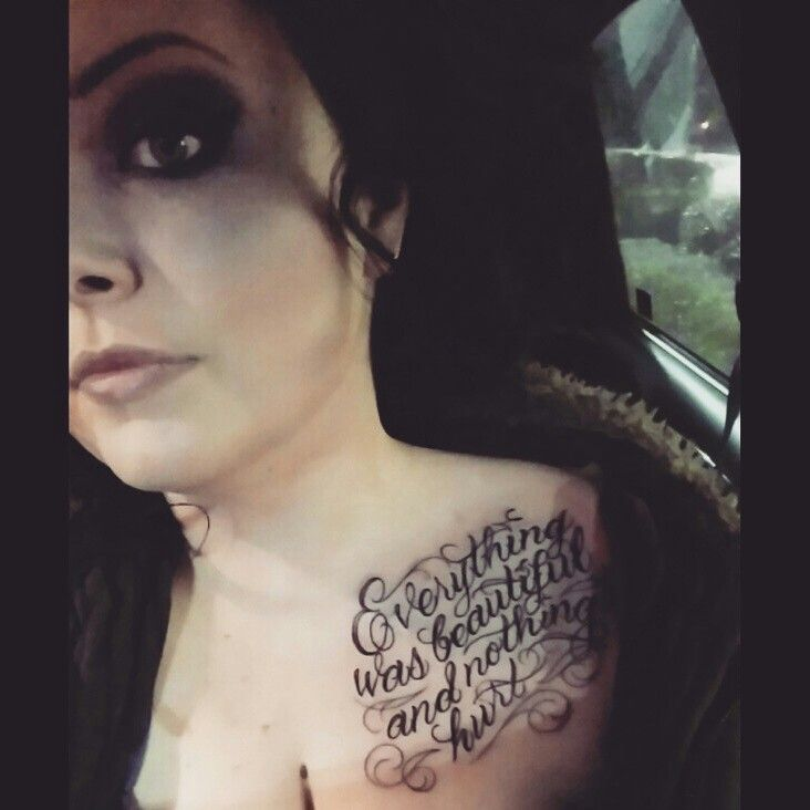 Everything Was Beautiful And Nothing Hurt Tattoo Slaughterhouse