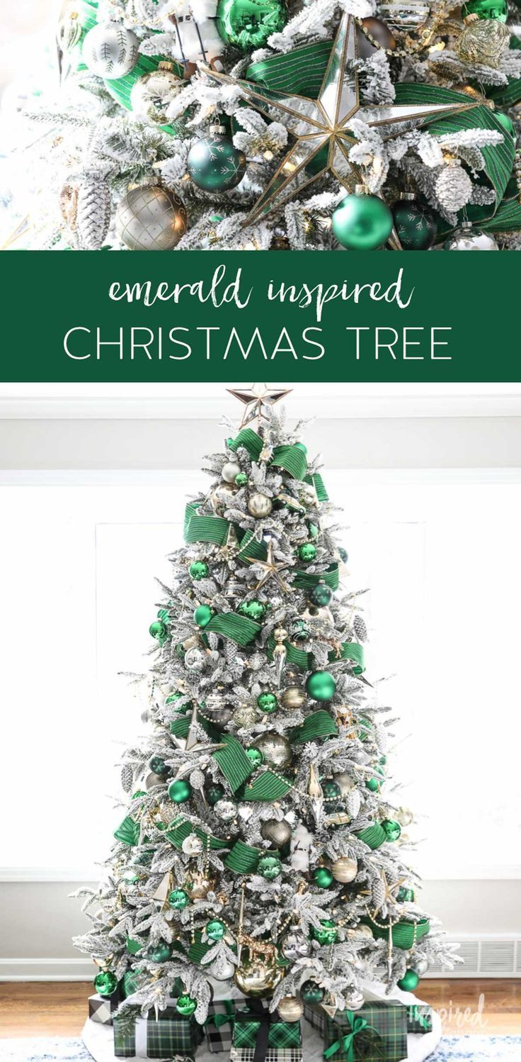 A Christmas Tree Fit For The Emerald City Green Christmas Tree Decorations Green Christmas Decorations Green Christmas Tree