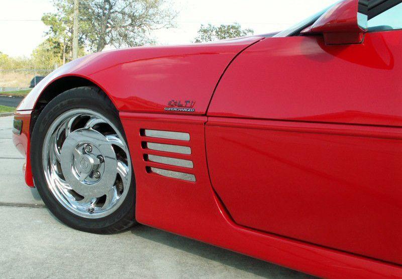 Corvette C4 1991-1994 8 Pc FENDER GILL COVER LONG DESIGN Stainless steel