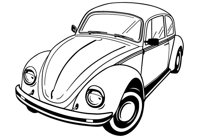 vw bug trunk best place to find wiring and datasheet resources 1960 VW Van vw beetle coloring pages 07