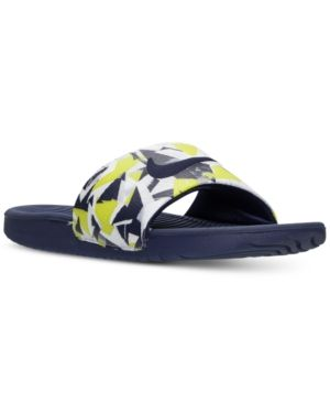 3c93c9a018ff3e Nike Men s Kawa Print Slide Sandals from Finish Line - Green 11 ...