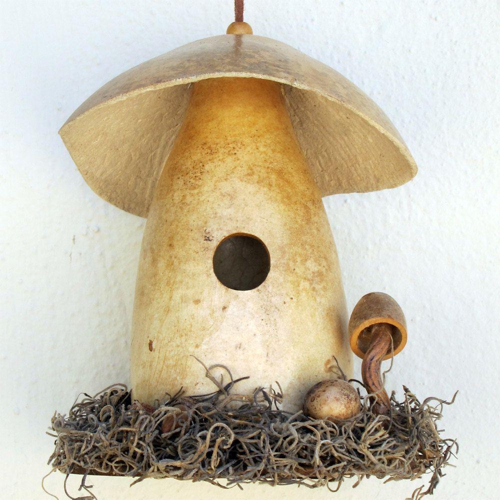 Mushroom Gourd Birdhouse