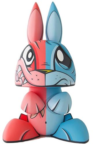 Bi Polar Bunny By Joe Ledbetter Part Of His Series Of Custom Mutant Bunny Figures Http Trampt Com S 623 Vinyl Art Toys Art Toy Art Dolls