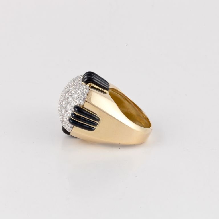 high polish dome helix gold pin rings and ring shank