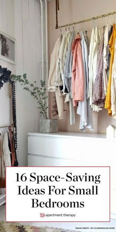 Photo of Clever Space-Saving Solutions for Small Bedrooms | Space saving, Small apartments, Bedroom