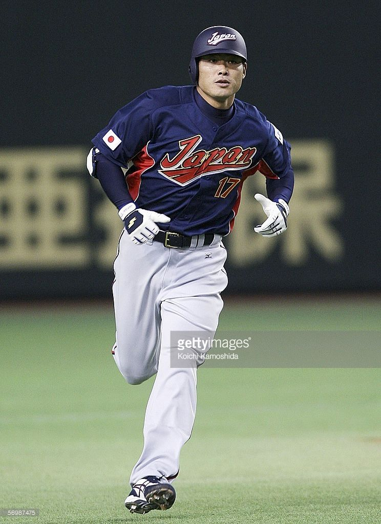 Outfielder Kosuke Fukudome Of Japan Rounds The Bases After Hitting A World Baseball Classic The Outfield Japan